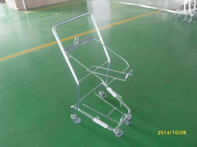 Four Wheeled Shopping Trolley / Shopping Basket Trolley 50KGS capacity